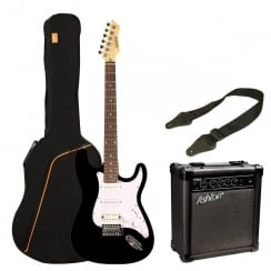Ashton SPAG232 AG232 Electric Guitar Pack | Black