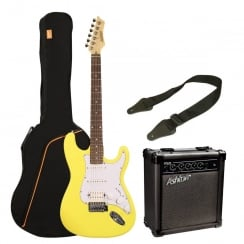 Ashton SPAG232 AG232 Electric Guitar Pack | Yellow