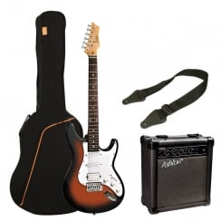Ashton SPAG232 TSB AG232 Electric Guitar Pack | Tobacco Sunburst