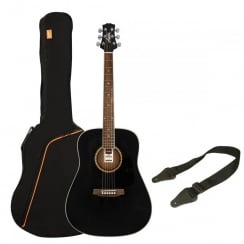 Ashton SPD25 Acoustic Guitar Pack | Black