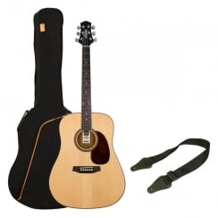 Ashton SPD25 Acoustic Guitar Pack | Natural Wood (Gloss Finish)