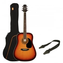 Ashton SPD25 Acoustic Guitar Pack | Tobacco Sunburst