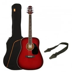 Ashton SPD25 Acoustic Guitar Pack | Wine Red Sunburst
