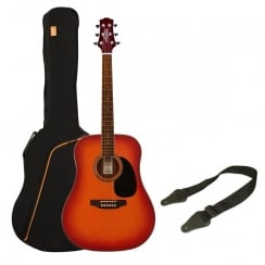Ashton SPD25 CSB Acoustic Guitar Pack | Cherry Sunburst