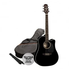 Ashton SPD25CEQ Electro Acoustic Guitar Pack | Black