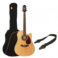 Ashton SPD25CEQ Electro Acoustic Guitar Pack | Natural Wood (Gloss Finish)