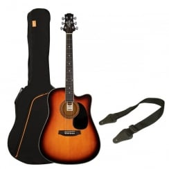 Ashton SPD25CEQ Electro Acoustic Guitar Pack | Tobacco Sunburst