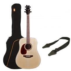 Ashton SPD25L Acoustic Guitar Pack | Natural Wood (Matte Finish)