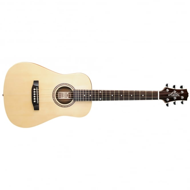 Ashton SPJOEYCOUSTIC Small Bodied Acoustic Guitar Pack | Natural Wood (Matte Finish)