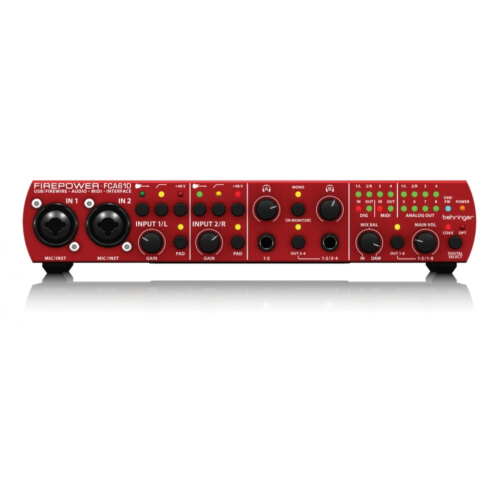 behringer fca610 firepower fca610 usb firewire audio interface from ri. Black Bedroom Furniture Sets. Home Design Ideas