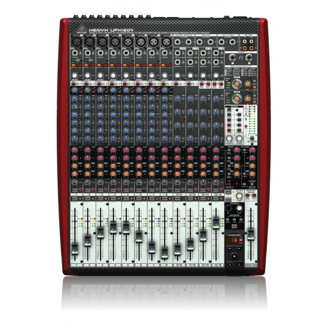 behringer ufx1604 xenyx small format mixer from rimmers music. Black Bedroom Furniture Sets. Home Design Ideas