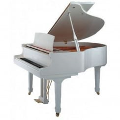 Bentley GP148 White Acoustic Grand Piano with QRS