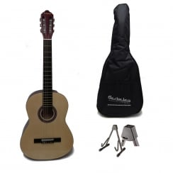Berkeley RBC4 Natural 4/4 Size Classical Guitar Package