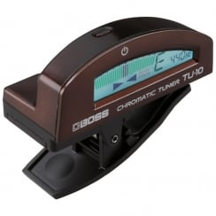 Boss TU-10 Clip-On Tuner, Brown