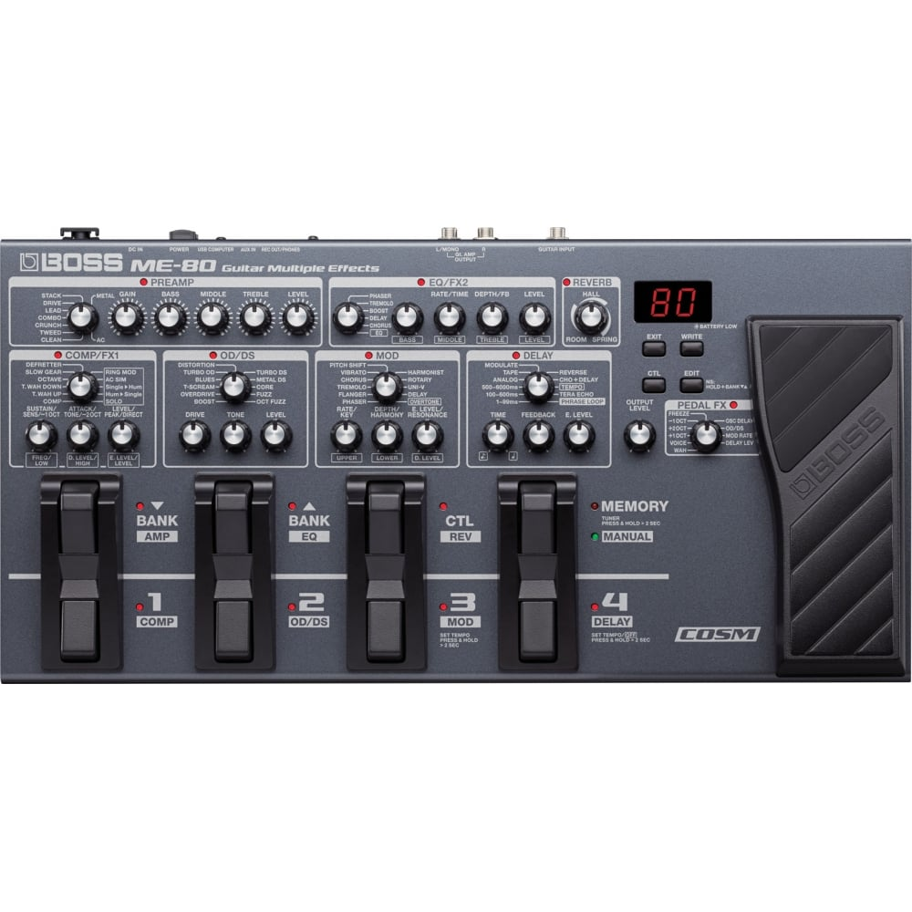 boss me80 guitar multi effects pedal with uk mainland delivery. Black Bedroom Furniture Sets. Home Design Ideas