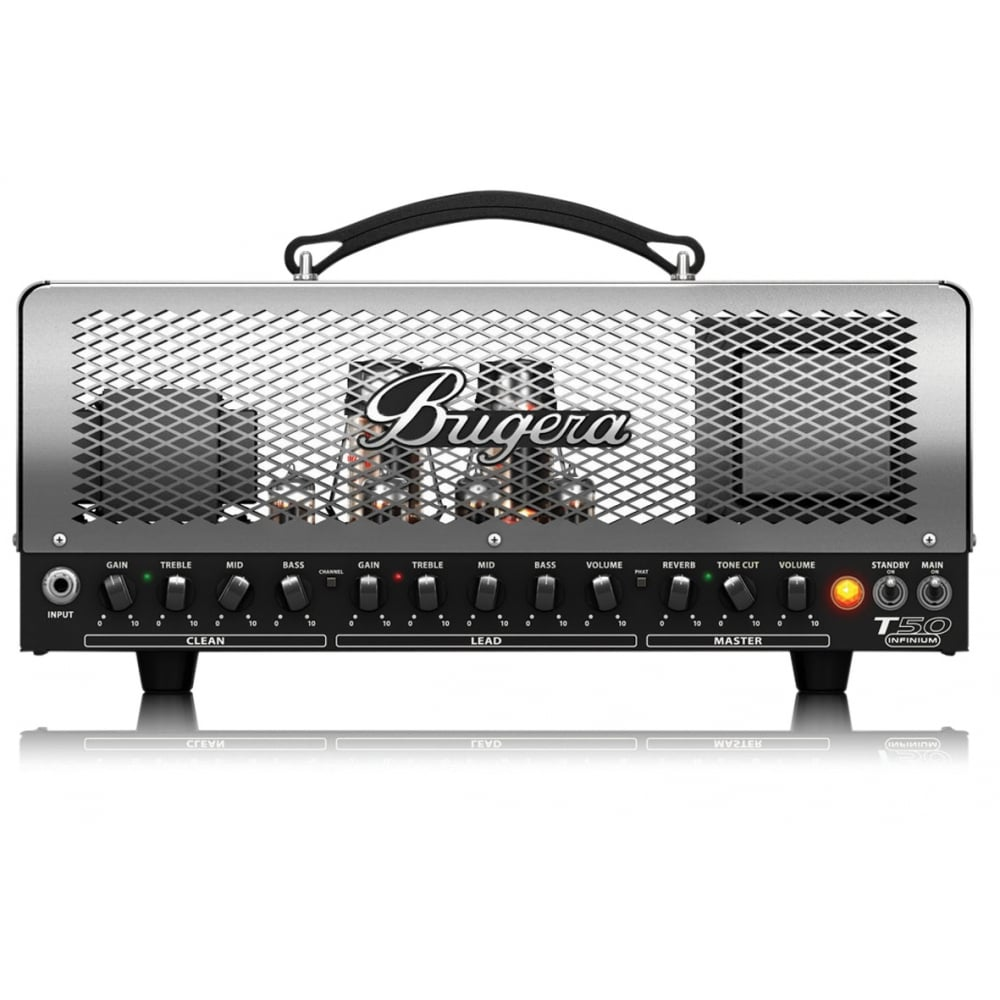 bugera t50 infinium 50w 2 channel tube amplifier head from rimmers mus. Black Bedroom Furniture Sets. Home Design Ideas