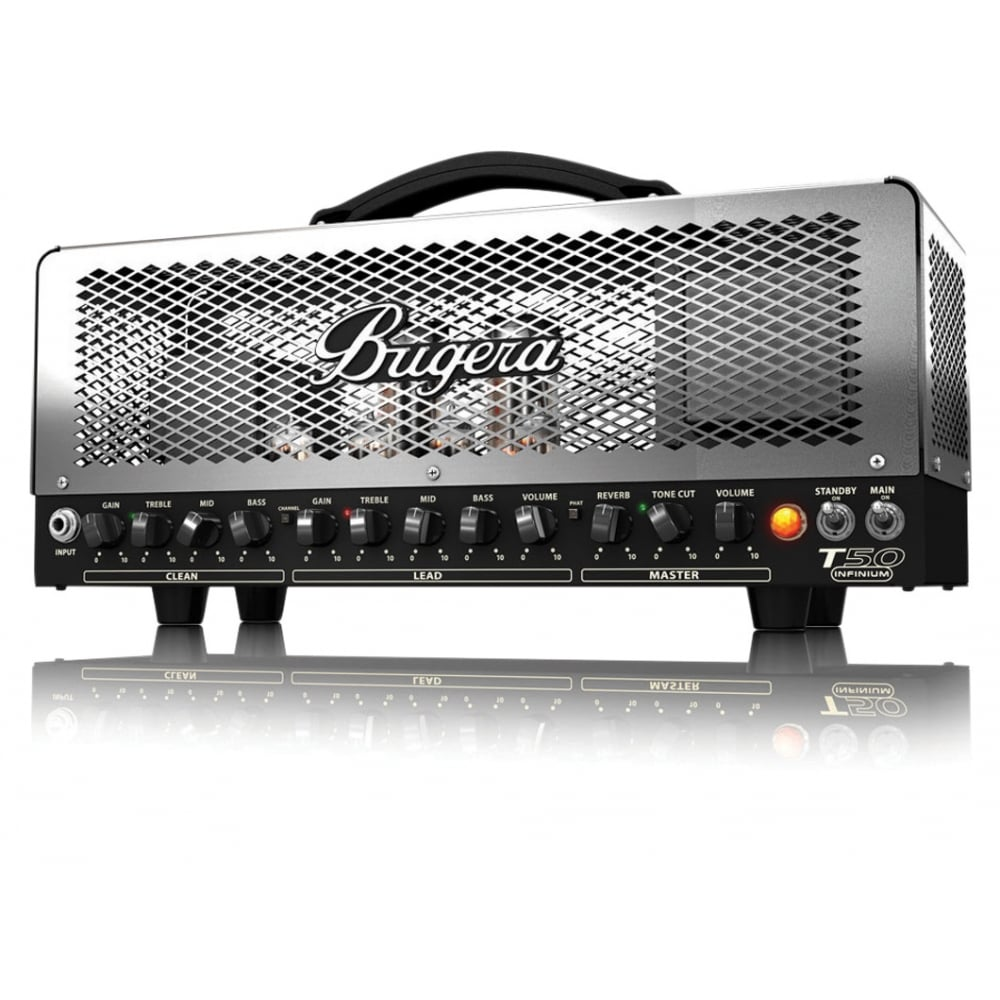 bugera t50 infinium 50w 2 channel tube amplifier head from rocking rooster. Black Bedroom Furniture Sets. Home Design Ideas