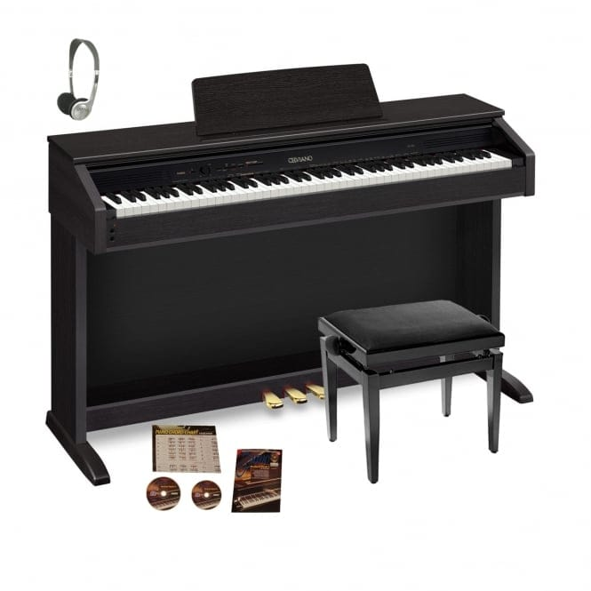 Casio AP460 Digital Piano Black Bundle