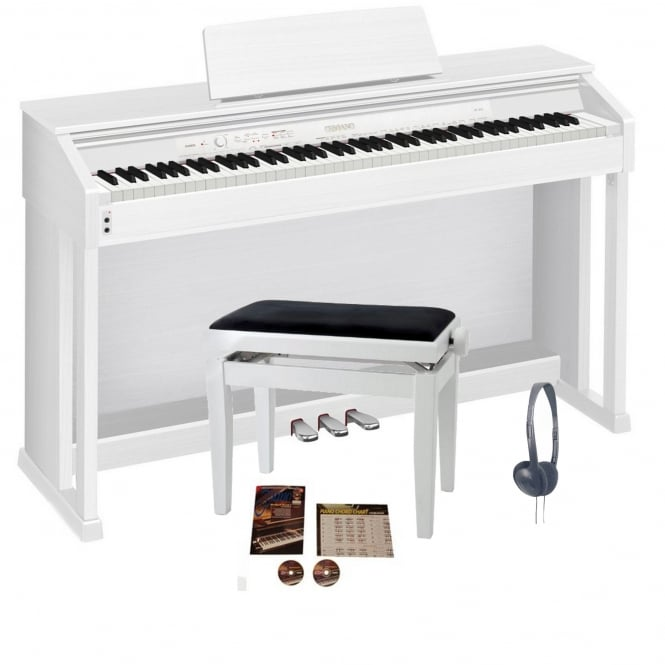 Casio AP460 Digital Piano White | Bundle