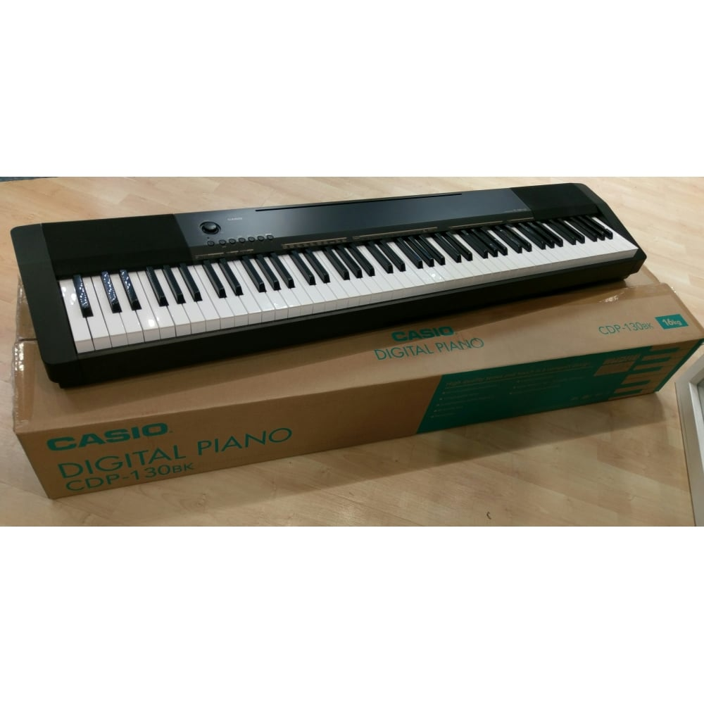 casio cdp 130 black digital piano customer return boxed. Black Bedroom Furniture Sets. Home Design Ideas