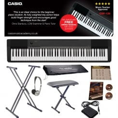 Casio CDP130 Digital Piano | Big Bundle | With Dust Cover