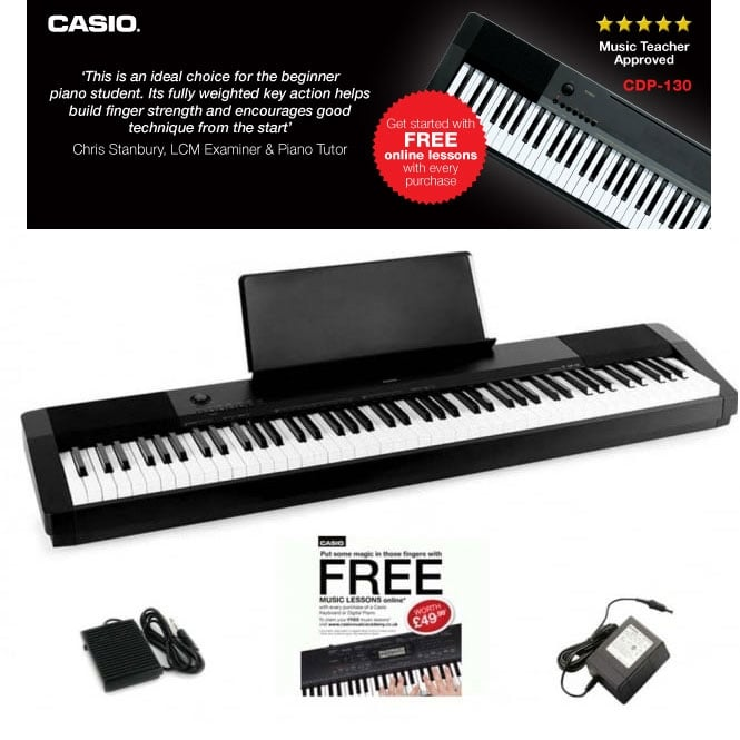 Casio Digital Piano Lessons : casio cdp130 digital piano with uk mainland delivery ~ Vivirlamusica.com Haus und Dekorationen