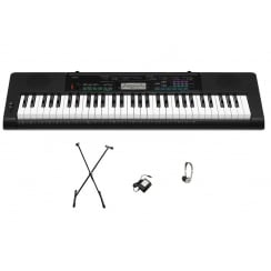 Casio CTK3400 Keyboard Bundle | Adaptor, Headphones, X Frame