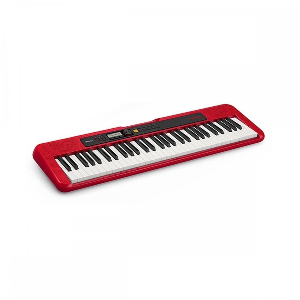 Casio CTS200 Portable Keyboard Red With Power Supply