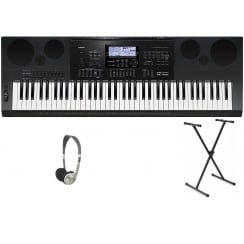 Casio WK7600 Keyboard | X Frame & Headphones Package