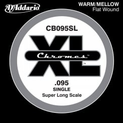 D'Addario CB095SL Chromes Bass Guitar Single String, Super Long Scale .095