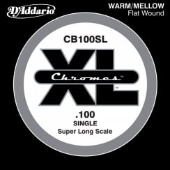 D'Addario CB100SL Chromes Bass Guitar Single String, Super Long Scale .100