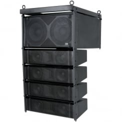 Citronic CLA-300 Active Line Array Speaker System, 300W + 300W, Black