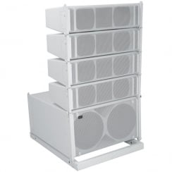 Citronic CLA-300 Active Line Array Speaker System, 300W + 300W, White