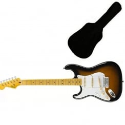 Squier Classic Vibe Stratocaster '50s Left-Handed, Maple Fingerboard, 2-Color Sunburst | Includes Gigbag