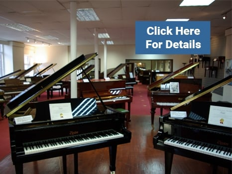 Grand Pianos at Rimmers Music Bolton
