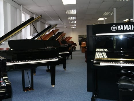 Some of the fantastic grand pianos we have available at our Rimmers Music Bolton store