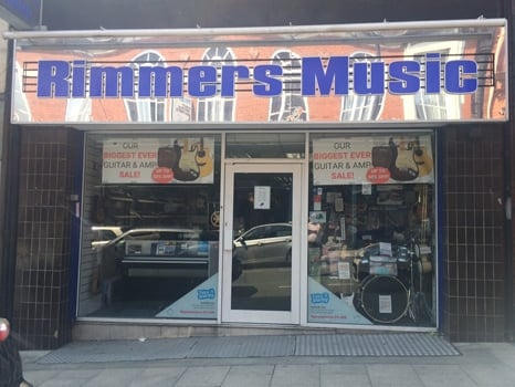 A street level view of our Rimmers Music store in Wigan