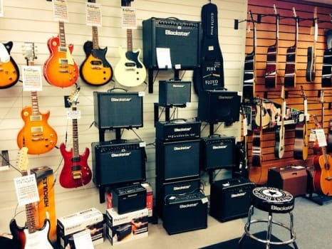 Blackstar guitar amplifier combos and stack with Vintage guitars at Rimmers Music Wigan