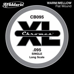 D'Addario D'Addario CB095 Chromes Bass Guitar Single String, Long Scale .095