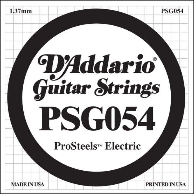 D'Addario PSG054 ProSteels Electric Guitar Single String, .054