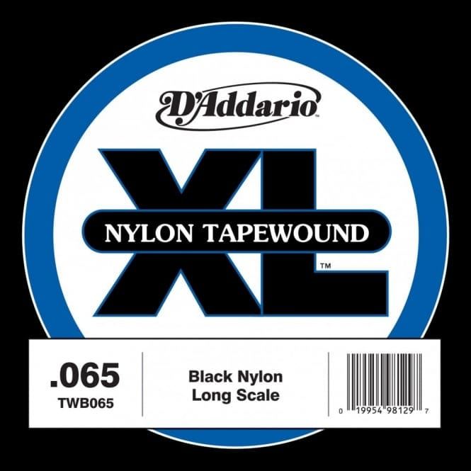 D'Addario TWB105 Nylon Tape Wound Bass Guitar Single String, .105