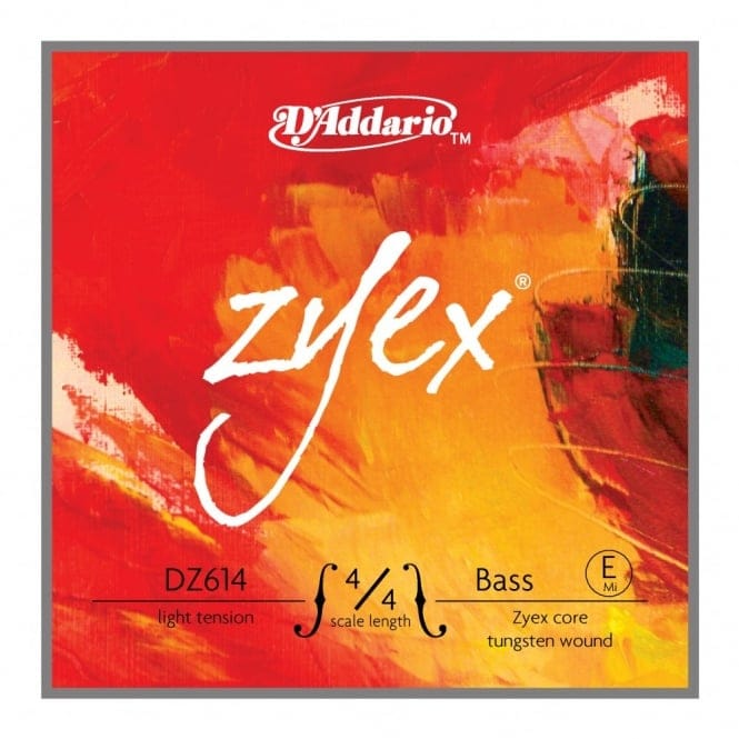 D'Addario Zyex Bass E-String, 4/4 Scale, Light Tension