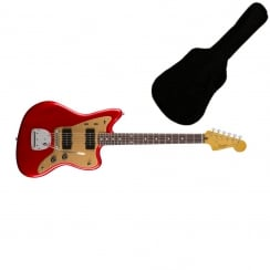 Squier Deluxe Jazzmaster with Tremolo Candy Apple Red