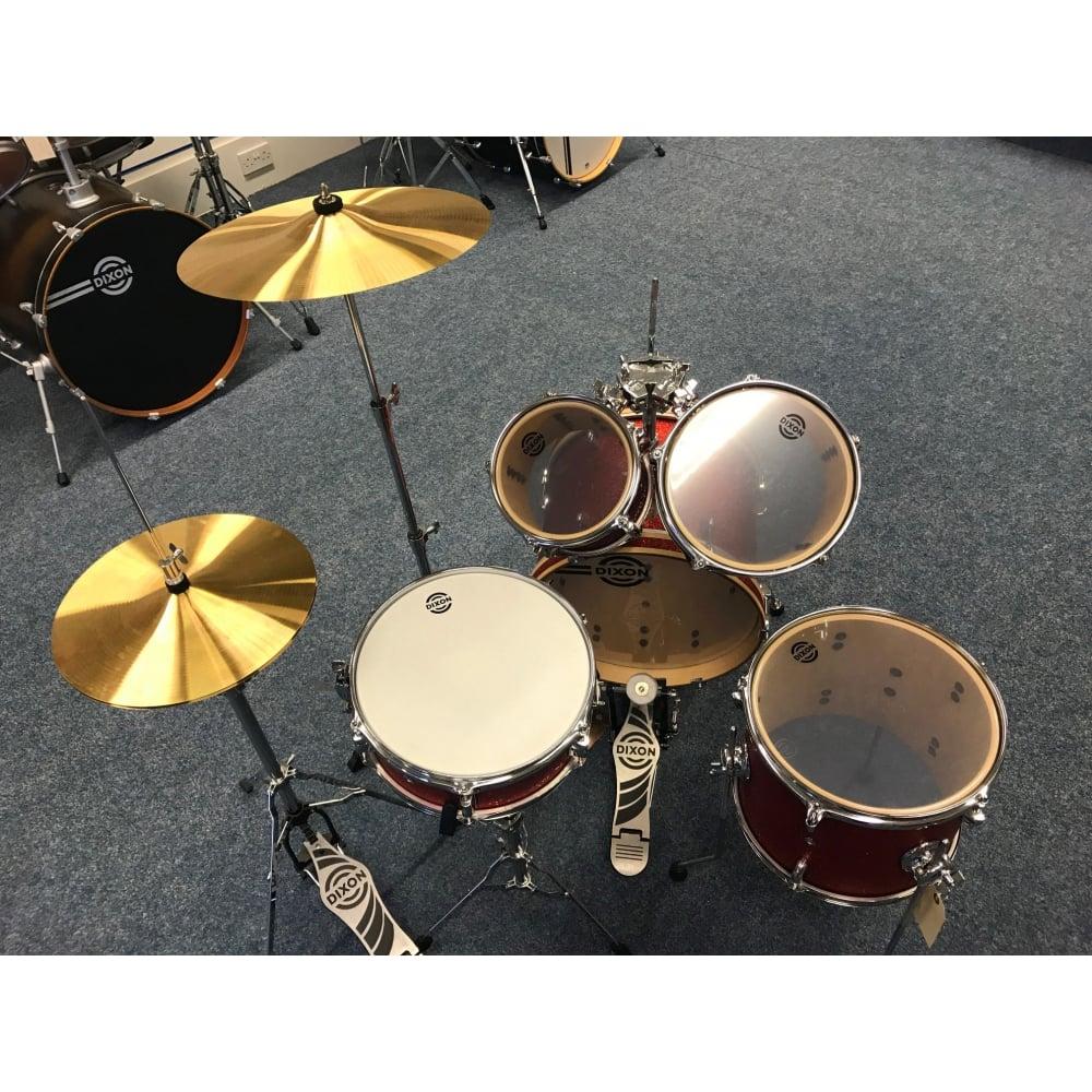 Dixon Jet Set Plus Travel Drum Kit Red Sparkle Ex Display