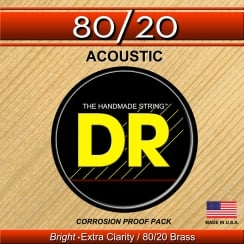 DR Strings Hi-Beam 80/20 Acoustic Medium - Light