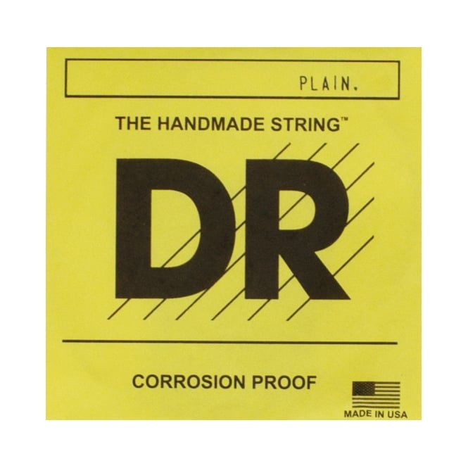 DR Strings Plain Uncoated Acoustic and Electric String 0.018
