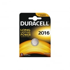 Duracell CR2016 Lithium Coin Cell Battery Card of 1