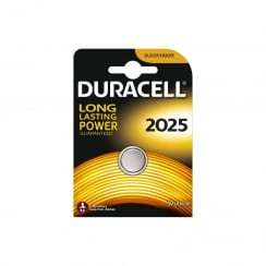 Duracell CR2025 Lithium Coin Cell Battery Card of 1