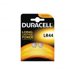 Duracell LR44 Lithium Button Cell Battery Card of 2