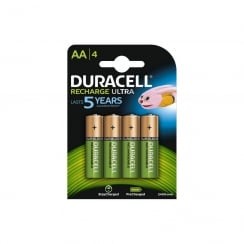 Duracell Recharge Ultra NiMH AA Battery Card of 4